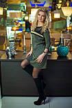 Платье цвета хаки с люрексом, фото 3