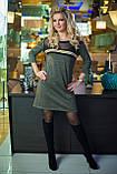 Платье цвета хаки с люрексом, фото 2