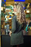 Платье цвета хаки с люрексом, фото 4