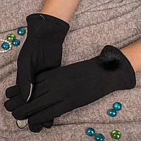 Женские элегантные перчатки для смартфона на меху с декоративным мехом Корона A115F L