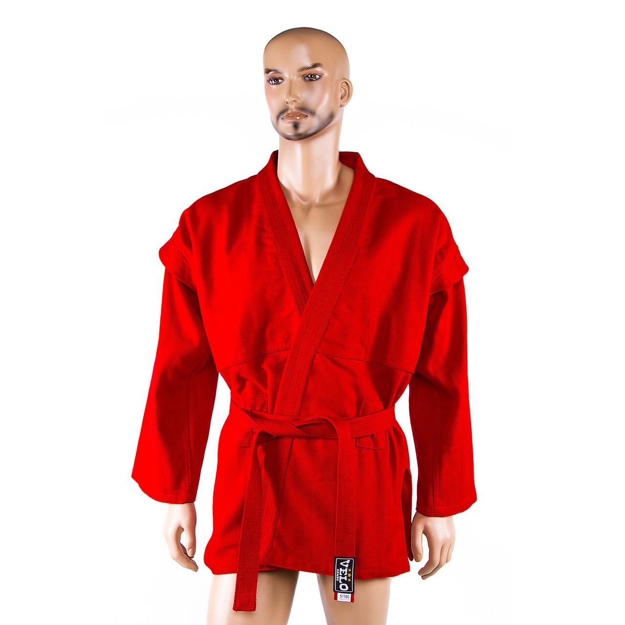 Самбовка, куртка+шорты(эластан), красный, рост 180