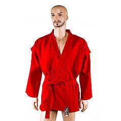 Самбовка, куртка+шорты(эластан), красный, рост 150