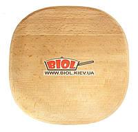Подставка деревянная квадратная 20х20см (бук) с закругленными вершинами под чугунные порционные сковороды
