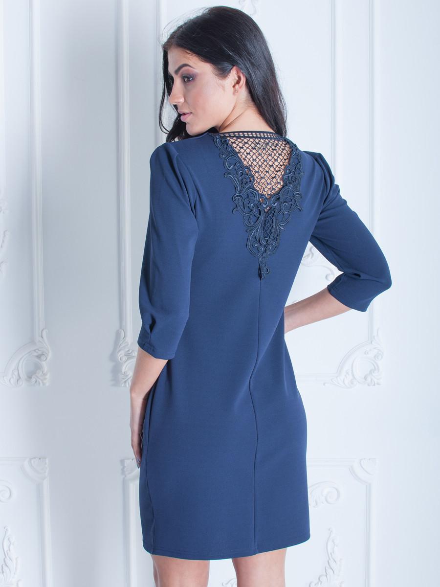 Изящное платье с кружевом по колено 52
