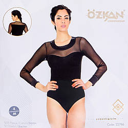 Полупрозрачное боди женское Ozkan Турция OZ-22786Siyah