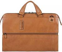 Практичная кожаная сумка с отделением для ноутбука Piquadro PULSE/Tobacco, CA4025P15S_CU светло коричневый