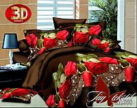Комплект постельного белья 3D ТМ TAG Полисатин полуторный PS-BL103