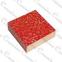Универсальная упаковка с ложементом Новогодняя - Красная - 160х160х55 мм