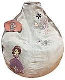 Крісло дитяче ігрове безкаркасне мішок-пуф груша для дитини, фото 2