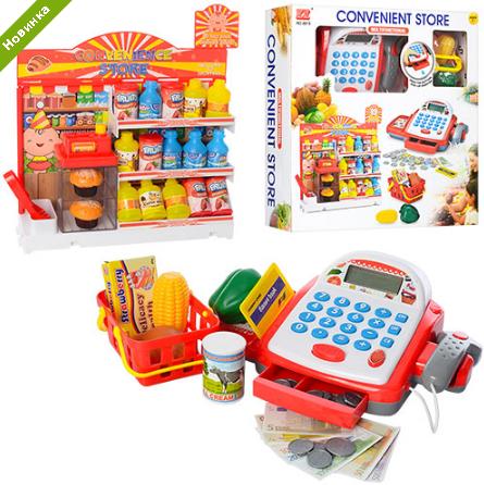 Детский кассовый аппарат с продуктами 6615