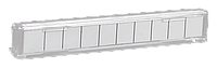 ITK Панель маркировочная на 10 пар плинтов аналог Krone, серый