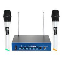 УВЧ 2 двухканальный портативный беспроводной студийный микрофон радио с приемником