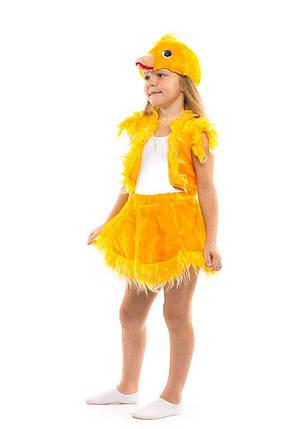"""Детский карнавальный меховой костюм """"Цыпленок"""" для девочки, фото 2"""