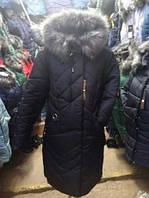 Пуховик зимний женский(54-60) с капюшоном, доставка по Украине