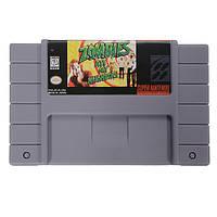 Зомби съел мои соседи 16 бит 46 пин карточная игра картридж для ПФС SNES системы NTSC