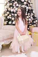 Асимметрическое детское платье с фатином
