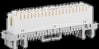 ITK Плинт размыкающий, 10 пар, аналог Krone, маркировка 1-0, белый