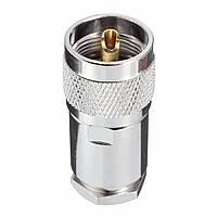1шт УВЧ мужской PL259 зажим уегз Rg8 Rg 165 lmr400 кабельный адаптер радиочастотный соединитель