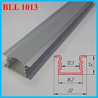 Врезной алюминиевый профиль под LED ленту 3,0 м. Серебро