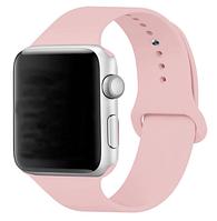 Браслет Ремешок силиконовый для Apple Watch 38 mm. Пудра, нежно - розовый
