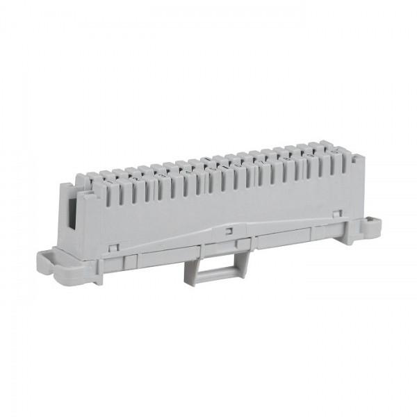 ITK Плинт соединительный, 10 пар, аналог Krone, маркировка 1-0, серый