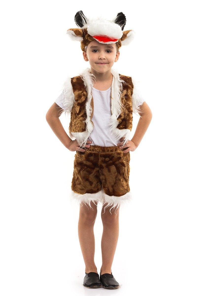 """Детский карнавальный меховой костюм """"Бычок"""" для мальчика"""