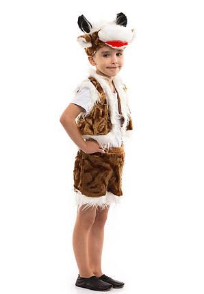 """Детский карнавальный меховой костюм """"Бычок"""" для мальчика, фото 2"""