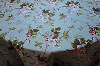 Скатерть Яблуневый цвет, мята (110*140см)