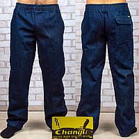 Мужские джинсовые штаны на флисе Andrey D01-2 4XL. Синие.