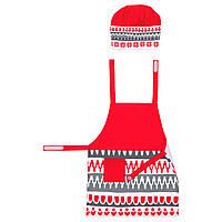IKEA VINTER2017 Фартук и колпак, белый, красный  (503.612.59)