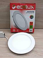 Светильник светодиодный Ecolux 12W 6000К LED круг встраиваемый (аналог Feron AL500)