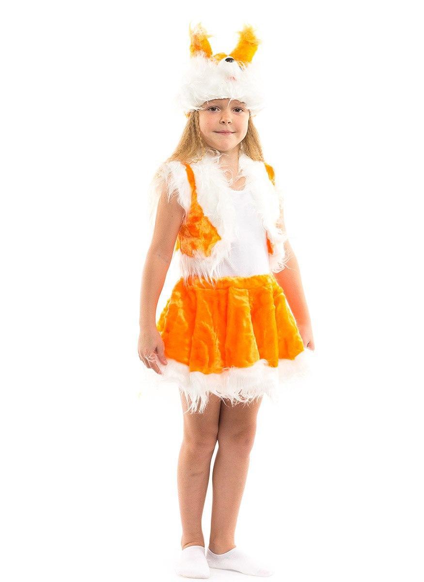 """Детский карнавальный меховой костюм """"Белочка"""" для девочки"""