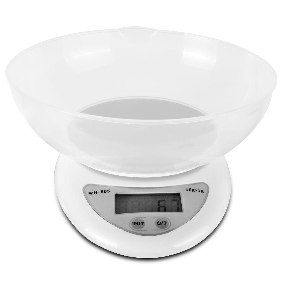 Весы кухонные с чашей 5кг точность 1гр WH-B05 цифровые