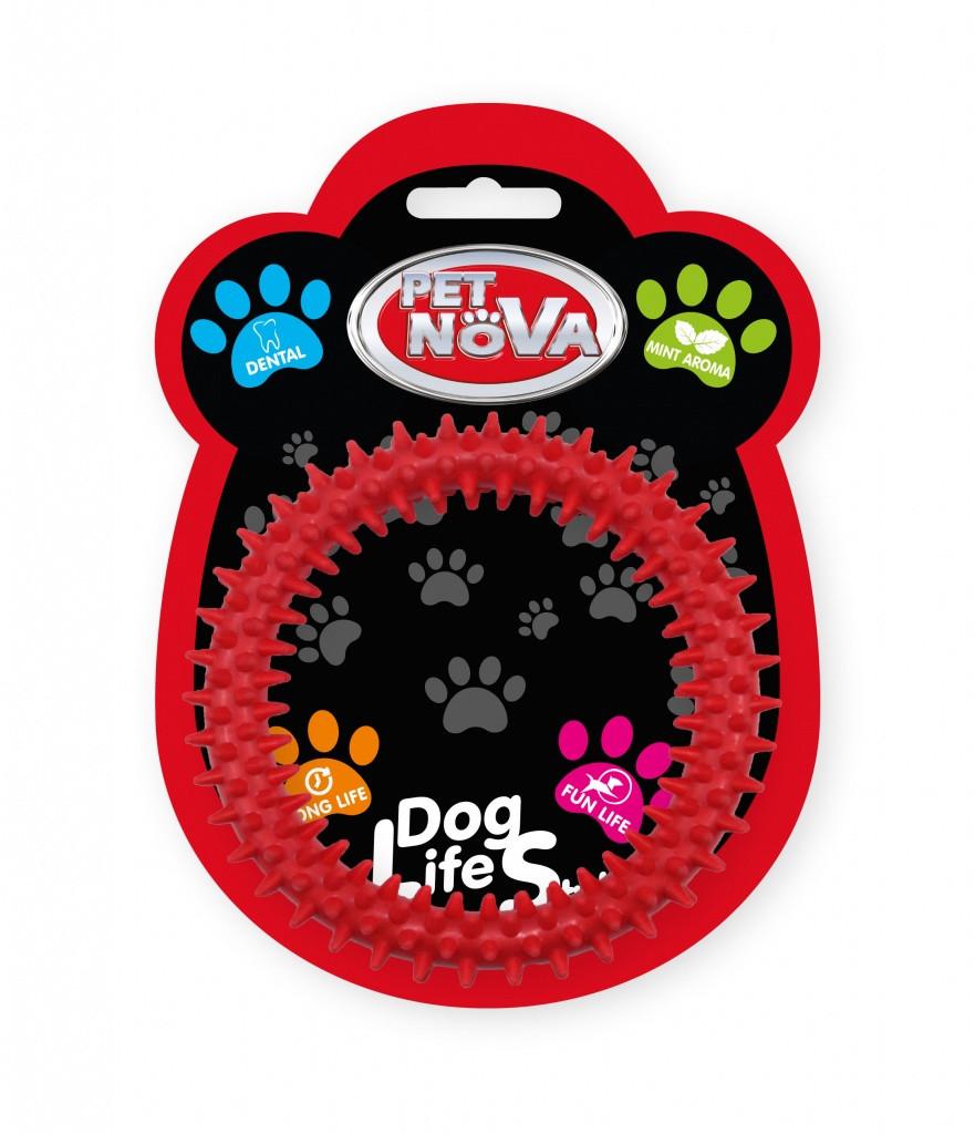 Игрушка для собак Кольцо DentRing Pet Nova 12.5 cм красный