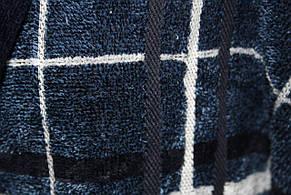 Халат для мужчин Клетка Черешки синий с белым 2XL, фото 2