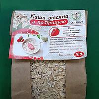 Овсяная каша с кусочками клубники, 100 г