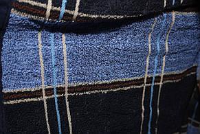 Халат для мужчин Клетка Черешки синий с голубым Клетка Черешки 2XL, фото 3