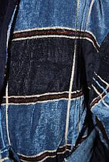Халат для мужчин Клетка Черешки синий с голубым Клетка Черешки 3XL, фото 2