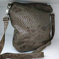 Сумка 27*27 на длинной ручке из экокожи рептилии