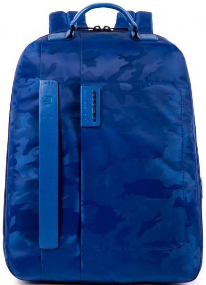 Кожаный рюкзак для ноутбука Piquadro PULSE/CamoBlue CA3349P16_CAMOBLU, 24 л