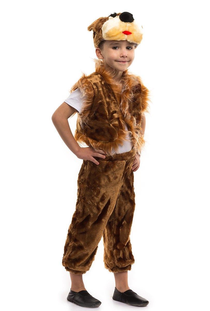 """Карнавальный детский меховой костюм """"Медведь"""" для мальчика"""