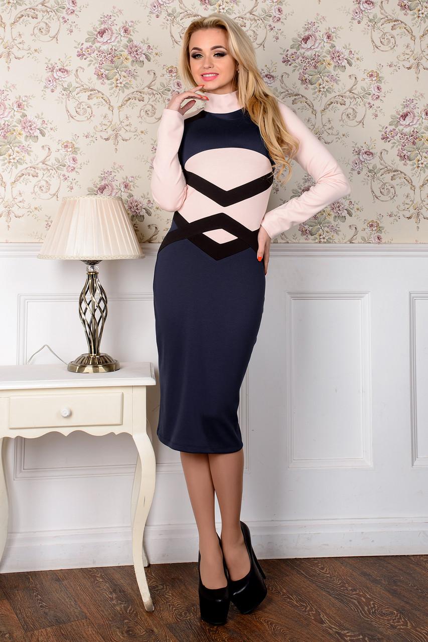 Стильное удлинённое яркое платье 22