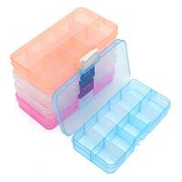 Регулируемая 10 Отсек пластиковый ящик для хранения кейс шарик ювелирных изделий снасти контейнер