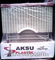 """Комод пластиковый """"Ротанг, цвет кофе с молоком"""", фирма AKSU. Производитель Турция."""