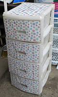Комод  пластиковый  панельный  с цветами , Irak Plastik
