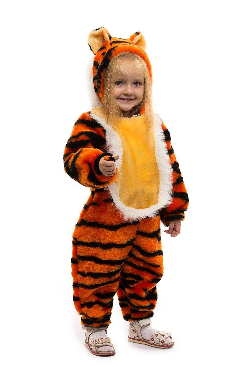 """Детский карнавальный меховой комбинезон """"Тигрёнок"""" для малышей"""