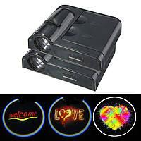 2pcs универсальный автомобиль приветствуется свет LED дверь проектор теневые лампы с датчиком магнита