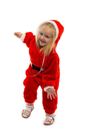"""Детский карнавальный меховой комбинезон """"Санта Клаус"""" для малышей, фото 2"""