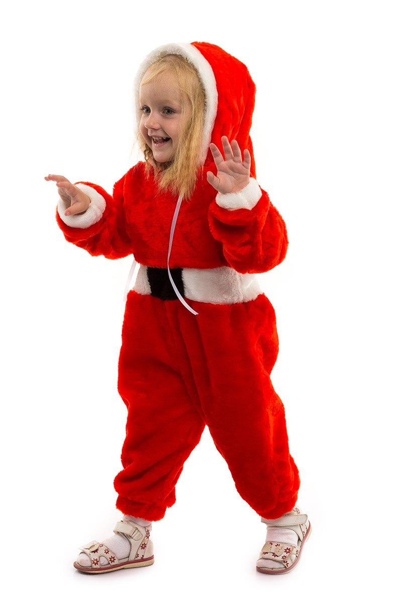 """Детский карнавальный меховой комбинезон """"Санта Клаус"""" для малышей"""