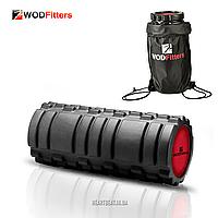 Массажный роллер WODFitters Foam Roller (черный, 33х14 см)